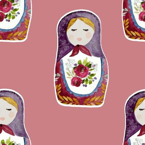 "8"" Little Babushka Berry Background"