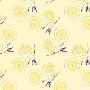 Watercolor Lemon Lavender