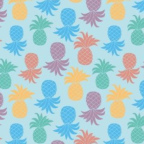 Multicolor pineapples