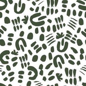 "6"" Olive Green Geometric Print"