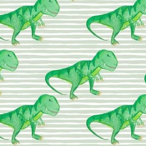 "4"" T-rex Green Stripes"