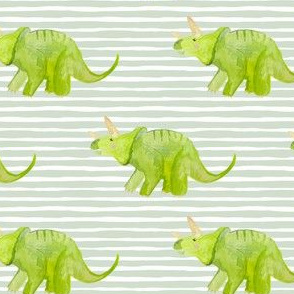 "4"" Triceratops with Green Stripes"