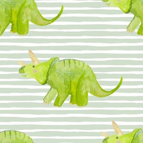 "8"" Triceratops with Green Stripes"