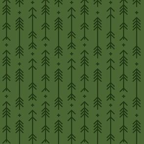 cross + arrows hunter green tone on tone