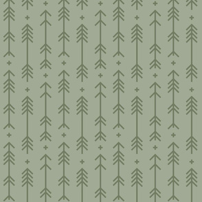 cross + arrows sage green tone on tone