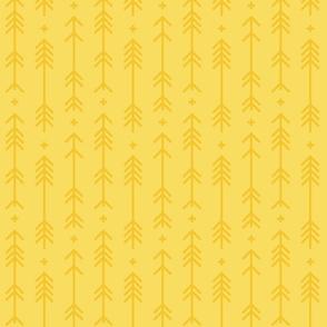 cross + arrows butter yellow tone on tone