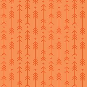 cross + arrows tangerine tone on tone