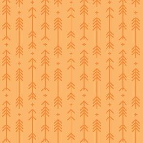 cross + arrows mango orange tone on tone