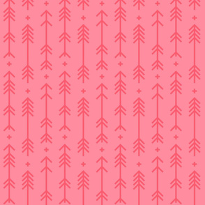 cross + arrows pretty pink tone on tone