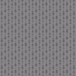 tiny cross + arrows granite grey tone on tone