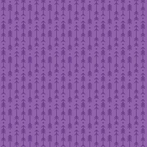 tiny cross + arrows amethyst purple tone on tone