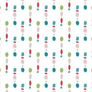 Colorful beads vertical stipes