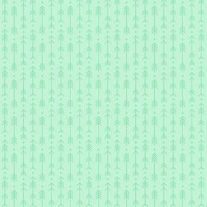 tiny cross + arrows ice mint green tone on tone