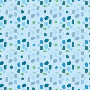 Light blue confetti