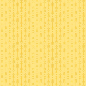 tiny cross + arrows sunshine yellow tone on tone
