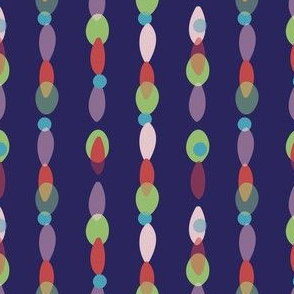 Big colorful beads in vertical rows