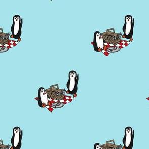 Penguins having a Picnic