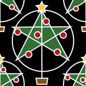 Pentagram christmas tree -black