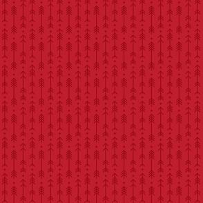 tiny cross + arrows red tone on tone