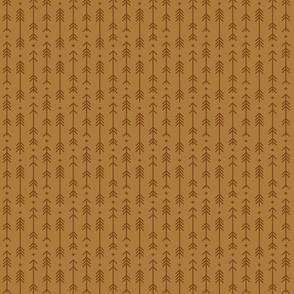 tiny cross + arrows caramel tone on tone