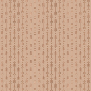 tiny cross + arrows toasted nut tone on tone