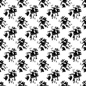 Black Ink Blotches on White