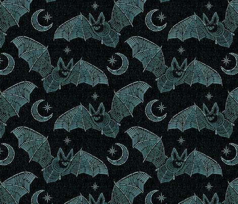 Bat Stitch Crazy - Blue
