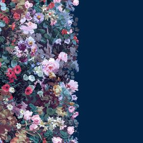 Victorian Garden Border ~ Border Print ~ Night Garden on Starboard