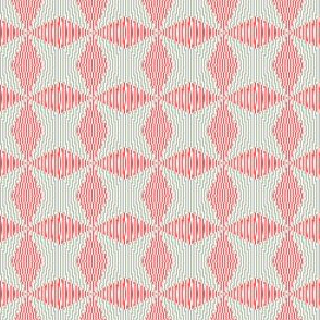 Crossing the lines - the red and gray optical illusion