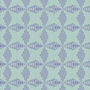 Crossing the lines - the blue and green optical illusion