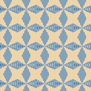 Crossing the lines - the blue and yellow  optical illusion
