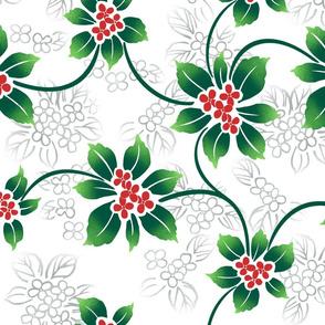 Hawaiian Holiday Winter Flora - White