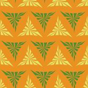 Yellow and green segments on orange