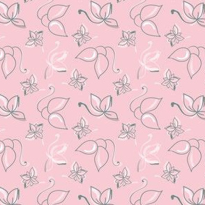 Pink tossed lotus flowwr