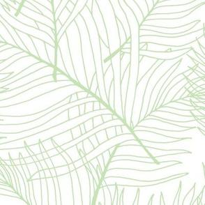 Light Green Palm Lines