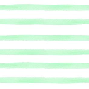 Mint Watercolor Stripes