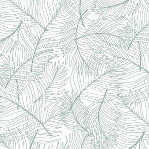 Palm Lines in Pale Green