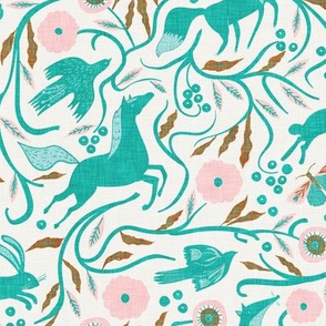 Woodland Joy (teal) MED