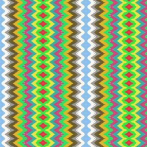Zig-zag multicolored stripes