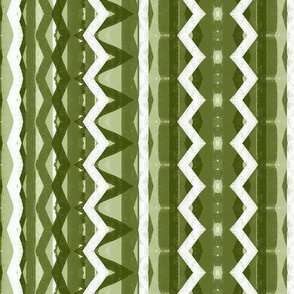 Artichoke Green Ribbons Lace