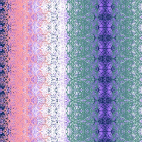 PInk, lilac, blue and white imitation of lace
