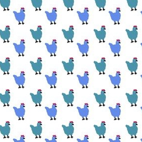 Blue and Green Chickens