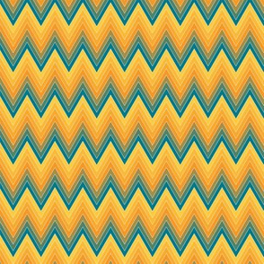 Simple chevron pattern shaded from brilliant orange to yellow