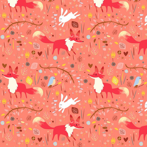 Sweet foxes pink by Mount Vic and Me