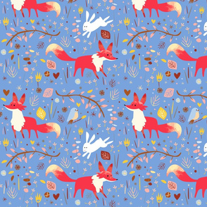 Sweet foxes blue by Mount Vic and Me