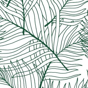 Palm Lines in Dark Green