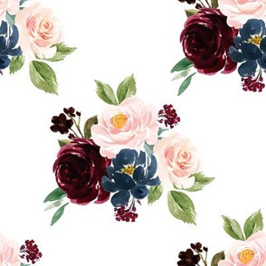 """8"""" Wild at Heart with Navy Florals"""