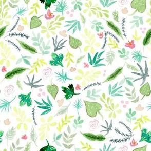 Tropical Garden - White Background