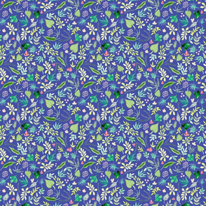 Tropical Garden - Violet Background