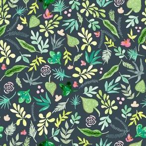 Tropical Garden - Dark Background
